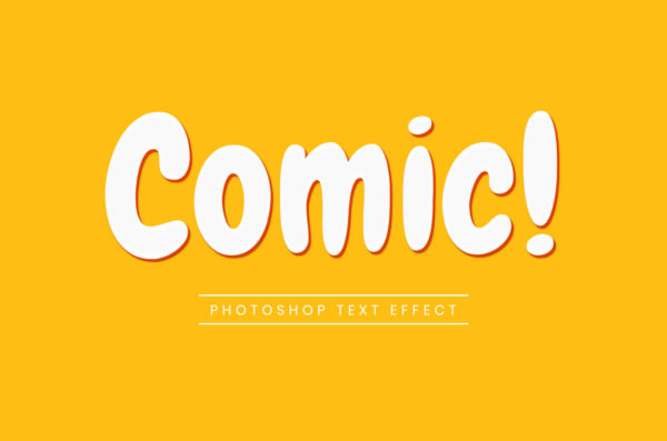 Photoshop Text Template - Comic 3D II
